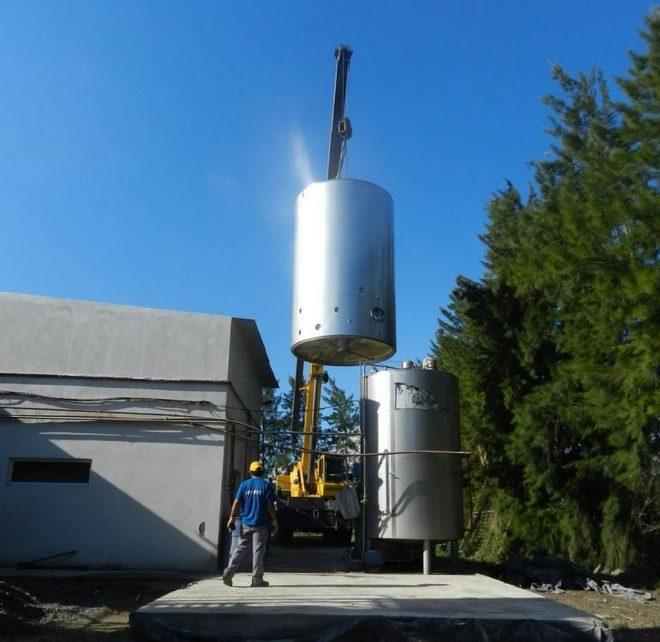 Silo para leche 40.000 - Lacteos Valle del Carmen Benvenutti