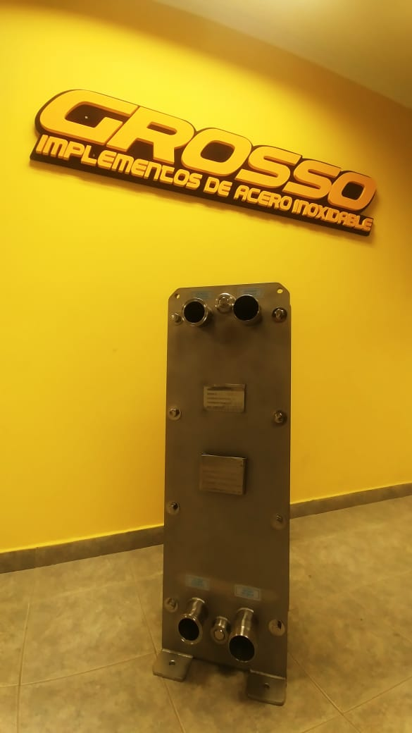 Placa Intercambiadora de Calor de Tipo Industrial - hasta 10.000lts/hs -